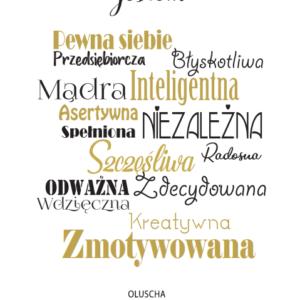 Plakat Z Afirmacją. Złota Ramka