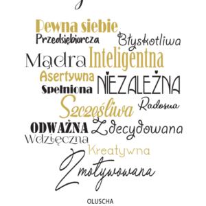 Plakat Z Afirmacją. Biała Ramka